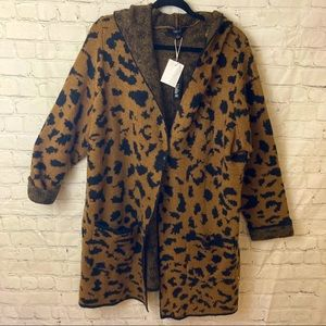 Tribekka 44 animal print hooded sweater